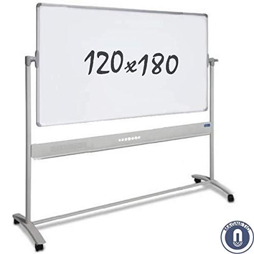 Whiteboard - mobiel - dubbelzijdig - magnetisch 120x180 cm