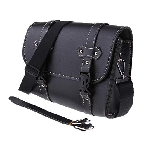 D DOLITY Universal Motorradtasche Motorrad Satteltasche Gepäcktaschen Werkzeugtasche Hecktasche Leder Tasche