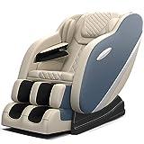 Real Relax Massage Chair, Full Body Zero Gravity Shiatsu Massage Recliner with S-Track, Auto Body Detection, Rocking Chair Mode, Bluetooth Speaker, Heat, SS02(Khaki and Blue)