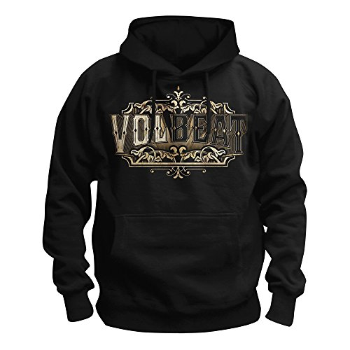 MAM Online Volbeat - Old Letters Kapuzenpullover, schwarz, Grösse L