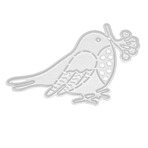 NEW Merry Christmas ULARMA Metal Cutting Dies Stencils for Card Making Scrapbooking Embossing DIY Crafts (Bird)