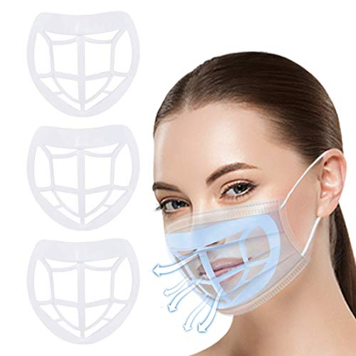 Wigood YaRui 3 Pack Nose Pads Lipstick Protection Bracket Support 3D Silicone Bracket for Nose and Mouth to Increase Breathing Space Can Be Reused