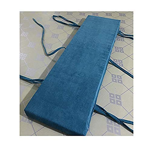 sunshinelh Outdoor Indoor Bench Cushion 2 3 4 Seater Bench Pad Cushion with Zipper,Non-slip Removable Washable Garden Patio Furniture Bench Swing Mat (Blue,40x40x3cm)