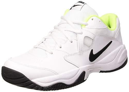 Nike Men's Court Lite 2 Tennis Shoe, White/Black-Volt, 11 Regular US