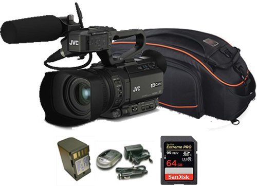 Kit Camcorder GY-HM200 JVC 4K Ready CMOS 1/2 - WiFi Ottica 12x stabilizzata HDMI Output 4K Ultra HD + 1 Battery + 1 Battery Charger + 1 Memory Card Sandisk 64Gb - 95Mb + Bag