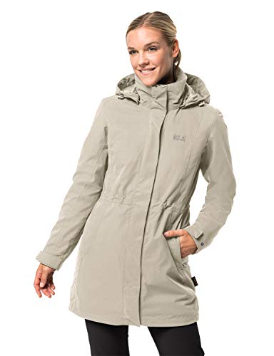 Jack Wolfskin Damen Ottawa Coat 3in1-jacke, Dusty Grey, S