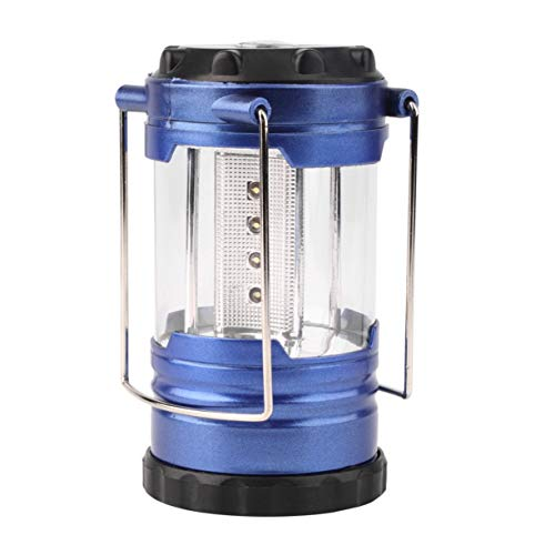 JIAJU Ultra Brillante Impermeable A Prueba de Golpes Ahorro de energía Linterna telescópica para Acampar Vivac Luz de Senderismo 12 LED Portátil con brújula - Azul