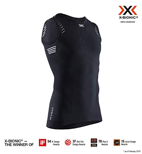 X-Bionic Invent Light Singlet Men, T Shirt Uomo, Opal Black/Arctic White, M