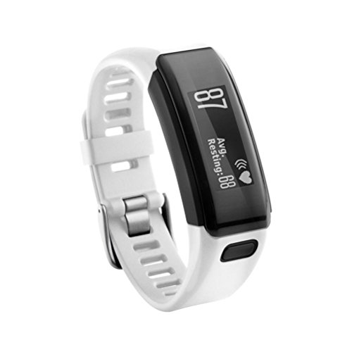 Kingko Garmin Vivosmart HR Armband, BeneStellar Ersatz Soft Silikon Bracelet Zubehör mit (Weiß)