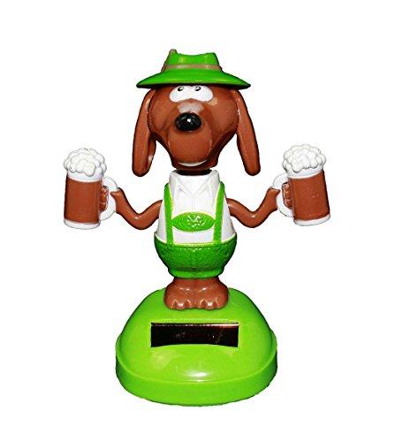 HAAC Solar Motivo Figura perro con cerveza 11cm Color Verde/Marrón