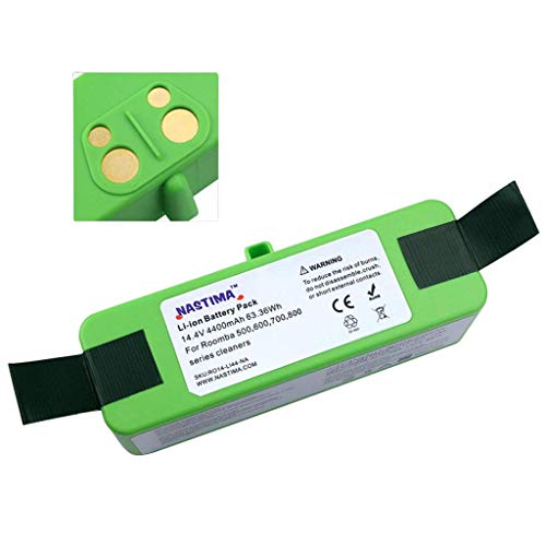 NASTIMA Xlife 14.4V 4400mAh Lithium ion Battery for iRobot Roomba 500 600 700 800 Series 510 530 533 535 550...