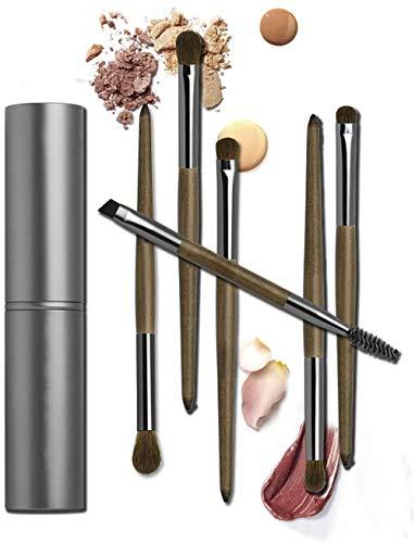 WEHQ Maquillage des Yeux Pinceau Set, 6 Pièces cosmétiques Eye Kits Pinceau Fard à paupières Eyeliner Pinceau à lèvres cosmétiques Outil avec étui