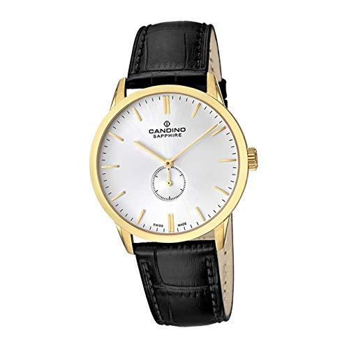 Candino Reloj de pulsera para hombre C4471/1, de lujo, analógico, de cuarzo, correa de piel, negro, D2UC4471/1, un regalo para Navidad, cumpleaños, día de San Valentín para el hombre