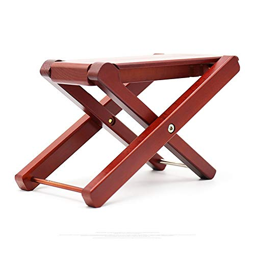 YADSHENG Guitar Lead Cable All Solid Wood Classical Guitar Footstool Folk Easy for Storage Electric Guitar Erhu Pedals Widened Four Adjustable Instrument Cables (Color : Wood)