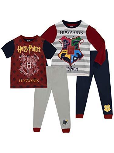 HARRY POTTER Pijamas para Niños 2 Paquetes Hogwarts Multicolor 12-13 Años