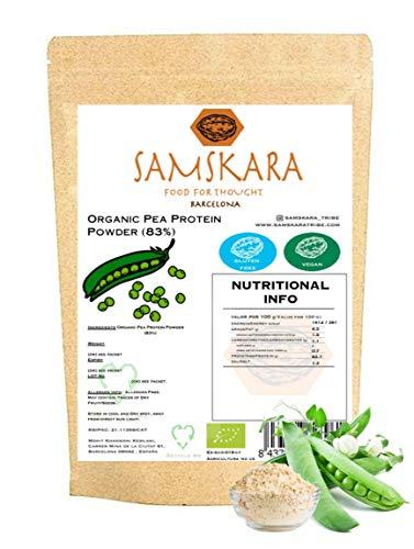 Proteina de Guisante (83%) en Polvo de Agricultura Ecológica SAMSKARA Organic agriculture Pea Protein Powder (83%) (1kg) ✅