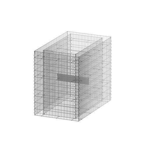 bellissa Gabionen-Hochbeet Premium 4-Eck - 95597 - Steinkorb-Pflanzkübel rechteckig - Bausatz inkl. Trennfolie - 120 x 75 x 100 cm