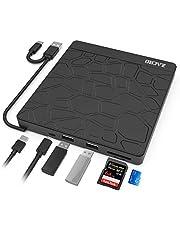Zacro unità CD Dvd Esterna,Masterizzatore e Riproduttore CD-RW/VCD-RW Ultra-Sottili a Doppia Porta USB 3.0 di Tipo C a Basso Rumore,per MacBook/Laptop/Desktop/Win 7/8/10 / XP