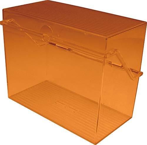 Helit H6904630 - Tarjetero A6 de plástico, color naranja transparente