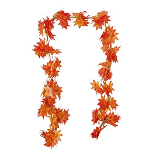 Amosfun Künstliche Ahornblattgirlanden Herbst Hängen Herbstgirlande Weihnachten Halloween Thanksgiving Dekor 2. 3M