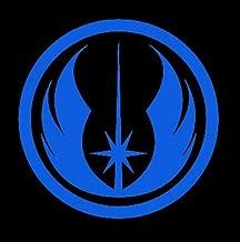 CCI Star Wars Jedi Order Logo Decal Vinyl Sticker|Cars Trucks Vans Walls Laptop| Blue |5.5 x 5.25 in|CCI1538