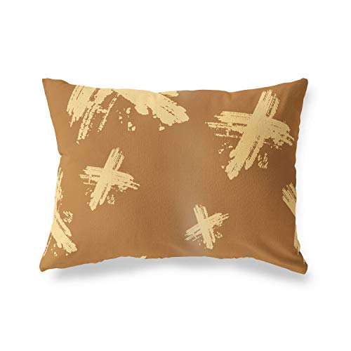 BonaMaison Decorative Cushion Cover, Brown Tones Throw Pillow Covers, Home Decorative Pillowcases for Livingroom, Sofa, Bedroom, Size: 45X60 Cm - Designed and Manufactured in Turkey