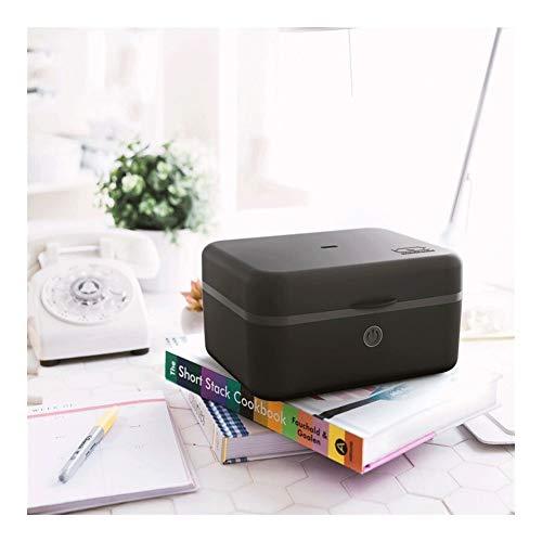 Food thermos Multifunktionale Isolierung Elektro-Lunch Box Leakproof Antiverbrühschutz Tresor Heizung Lunch Box Portable Wiederverwendbare Nahrungsmittelheizung Pink Schwarz ( Color : Black )
