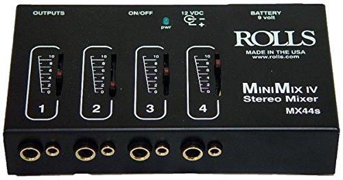 rolls Mini Mix IV 1/4 and 1/8 Mixer (MX44S)
