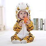 Baby Strampler Winter Kigurumi Cartoon Kostüm Für Mädchen Jungen Kleinkind Tier Jumpsuit Säuglingskleidung Pyjamas Kinder Overalls Ropa Bebes-Neuer Tiger_3M