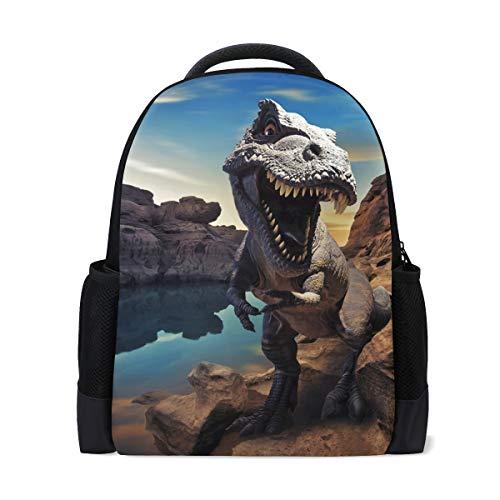 Mnsruu Rucksack Schultasche für Jungen, Dinosaurier_Dm_8 Casual Kinder Rucksack Laptop Rucksäcke