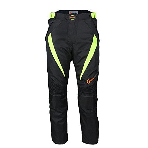 LKN - Pantaloni protettivi da moto, impermeabili, antivento, per tutte le stagioni (XL, Nero)