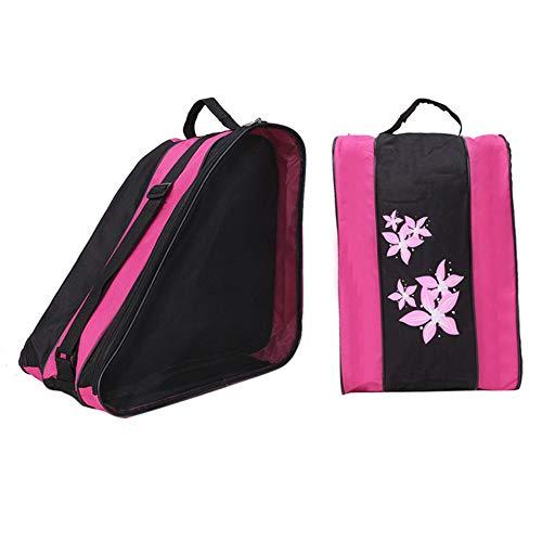 DERKOLY Große Kapazität Durable Schlittschuhe Roller Skating Carry Holder Storage Zipper Bag Kinder Unisex Umhängetasche Pink