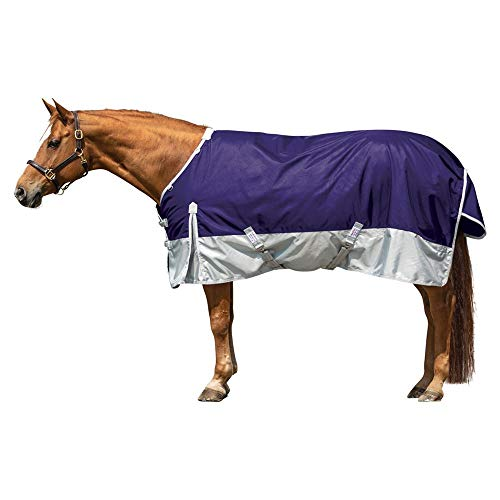 Dura-Tech Viking Extreme Horse Turnout Sheet | Equine Size 80 - Plum | 1680 Denier Poly Outer | Euro Fit Protection | Criss-Cross Surcingle | Waterproof, Windproof & Breathable