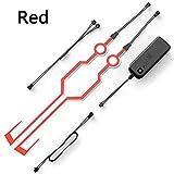 Kit di luci LED impermeabili, per casco da moto, guida notturna, segnale di sicurezza lampeggiante, red