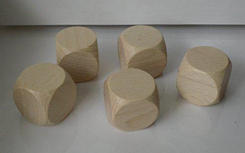 10 Blankowürfel aus Ahornholz 40 mm