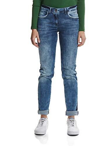Cecil Damen Scarlett Jeans, Light Blue Used Wash 1853-10349, 28W / 32L