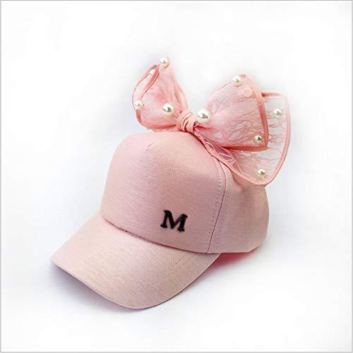 MURXU Eltern-Kind-Modelle Baseballmütze Weiblicher Übergroßer Bogen Perle Strass Organza Baseballmütze Spitze Hasenohren D