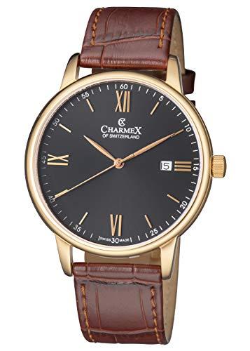 Charmex Amalfi CX-3031 - Orologio da uomo con cinturino in pelle color...