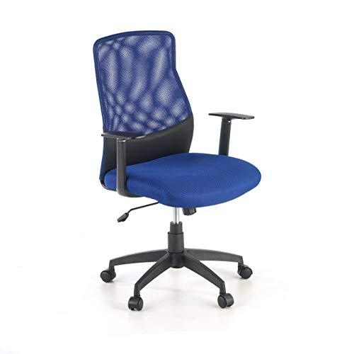 Ofichairs Silla Miami Silla giratoria de Oficina Silla de Escritorio de Malla Respaldo Transpirable Mecanismo basculante Color Azul