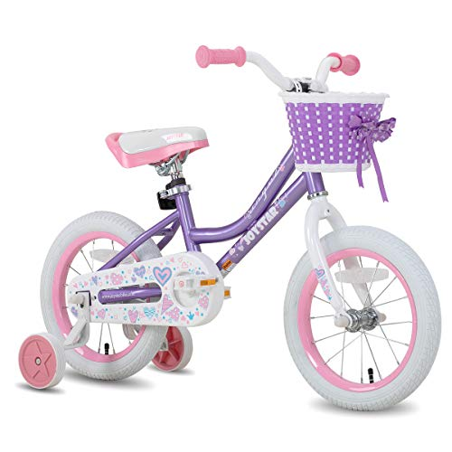 cheap JOYSTAR 12 inch children's bicycle for girls aged 2, 3 and 4 years, children's bicycle with training wheels and basket, 85% …