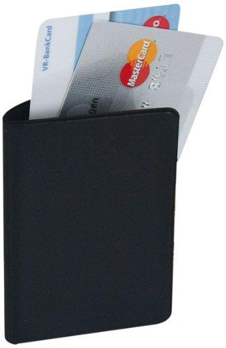 Herma 5548 RFID Blocking Schutzhülle schwarz für 2 Kreditkarten (Format 60 x 96 mm) 1 Kreditkartenhülle aus Kunststoff, auch für Personalausweis, EC-Karte, gegen Auslesen und Datenklau