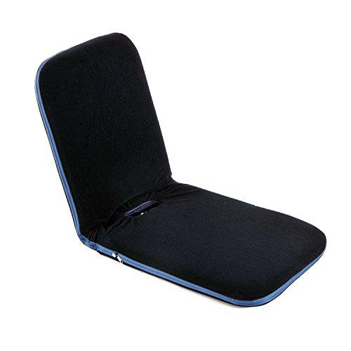 HOMCOM Sitzkissen Sitzsack Bodenkissen Stadionkissen Boden Sessel mit Lehne klappbar (Modell1/ Dunkelblau)