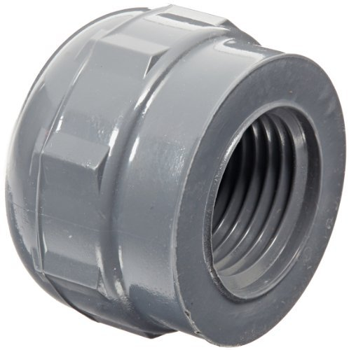 GF Piping Systems PVC Pipe Fitting, Cap, Schedule 80, Gray, 1/2 NPT Female by GF Piping Systems