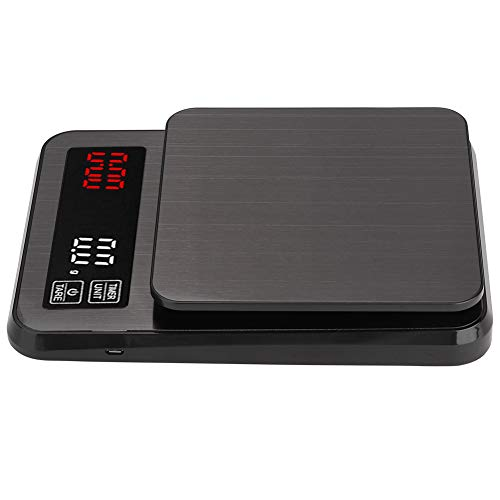 LIUTT Mini balanza Digital: Multifuncional de Alta precisión, cronógrafo de Acero Inoxidable, Escala de café, Escala...