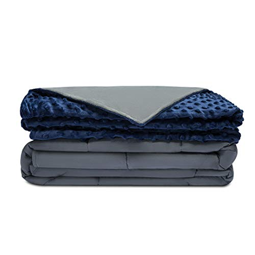 "Quility Premium Adult Weighted Blanket & Removable Cover | 20 lbs | 60""x80"