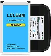 Mifi 7730l Battery [Upgraded] LCLEBM 4500mAh 7730l Jetpack Battery for Novatel Jetpack MiFi 7730L Mobile Hotspot P/N: 40123117 [1 Year Warranty]