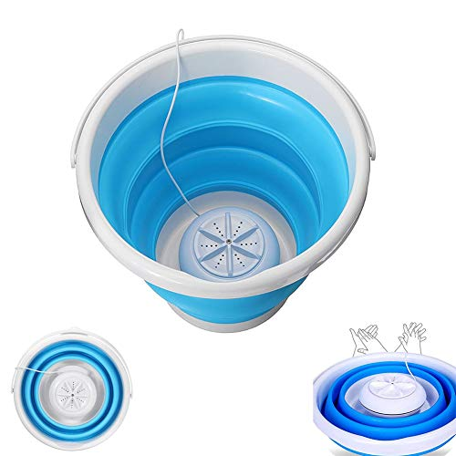 ZR&YW Lavadora Plegable Cubo, Mini portátil de Lavado, Estudiante máquina compartida USB Plug-In Creativo pequeños electrodomésticos, el Juego para Acampar dormitorios