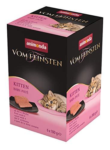animonda Vom Feinsten Kitten, Nassfutter für wachsende Katzen im ersten Lebensjahr, mit Baby-Paté, 6 x 100 g