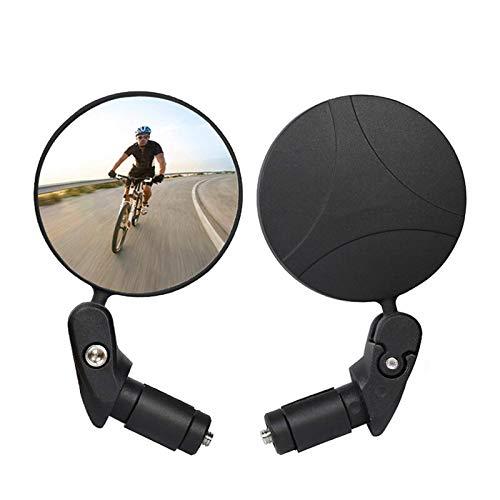 Espejos De Bicicleta Espejo Retrovisor De Bicicleta Rotación De 360 ??° Ajustable Gran Angular Ciclismo Vista Trasera MTB Bicicleta De Carretera Espejos De Manillar De Bicicleta Bicicletas Eléctricas