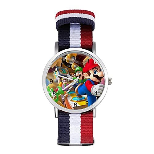 Juego de dibujos animados Super Mario relojes son impermeables, versátiles, informales, estudiantes, hombres y mujeres, deportes, moda y temperamento simple anime dibujos animados